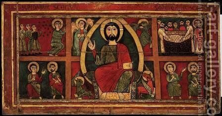 Altar frontal by Catalan Unknown Masters - Reproduction Oil Painting