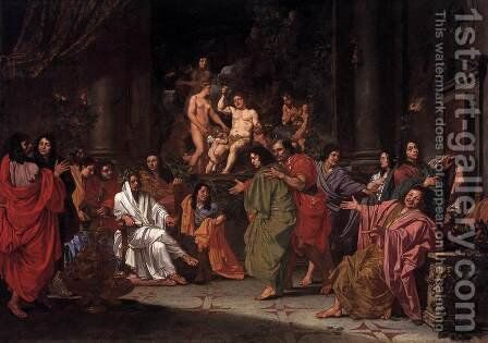 Initiation of a Bentvueghel in Rome by Dutch Unknown Masters - Reproduction Oil Painting