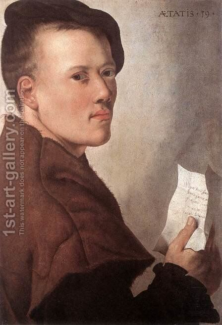 Portrait of a Young Man by Dutch Unknown Masters - Reproduction Oil Painting