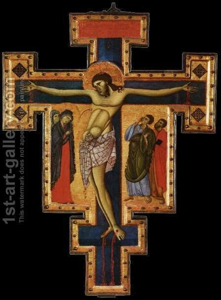 Crucifix 4 by Italian Unknown Master - Reproduction Oil Painting