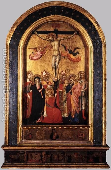 Crucifixion with the Virgin and Saints by Italian Unknown Master - Reproduction Oil Painting