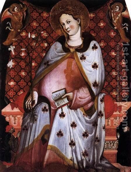 Madonna del Parto by Italian Unknown Master - Reproduction Oil Painting