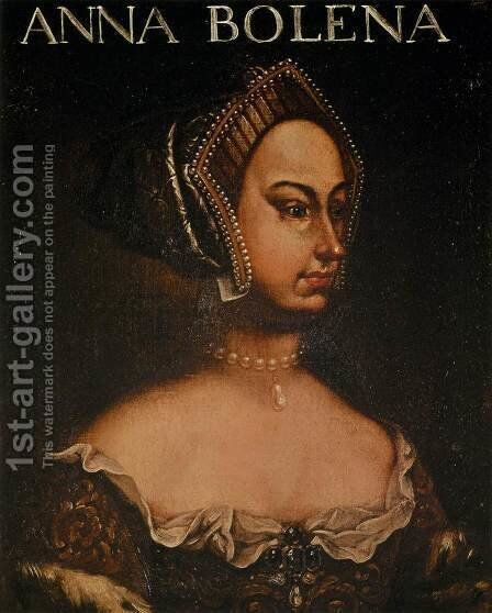 Portrait of Anne Boleyn by Italian Unknown Master - Reproduction Oil Painting