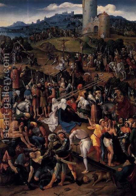 Mount Calvary by Dutch Unknown Masters - Reproduction Oil Painting