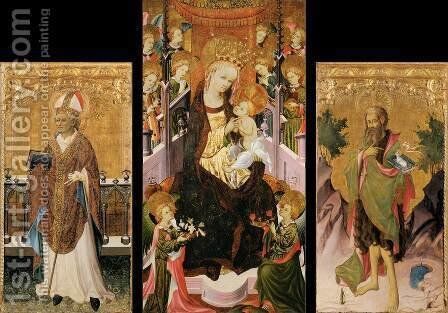 Altarpiece of the Virgin by Spanish Unknown Masters - Reproduction Oil Painting
