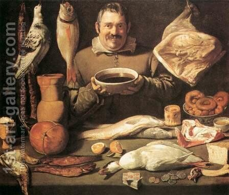The Chef by Spanish Unknown Masters - Reproduction Oil Painting