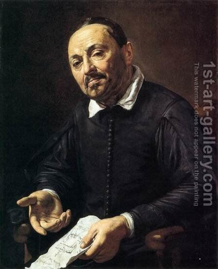 Portrait of Raffaello Menicucci by Jean de Boulogne Valentin - Reproduction Oil Painting