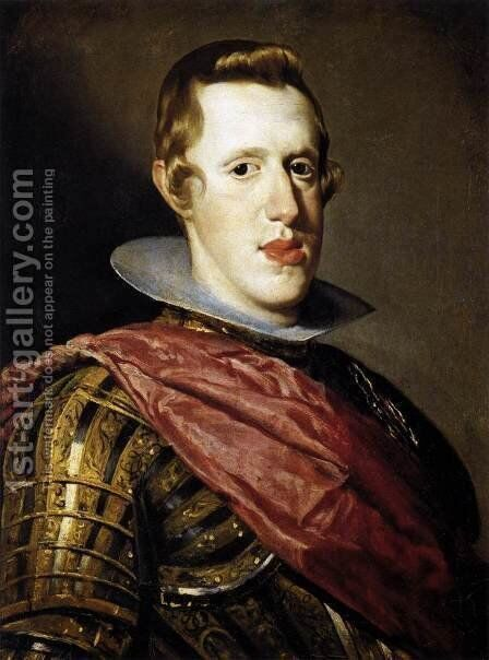 Philip IV in Armour by Velazquez - Reproduction Oil Painting