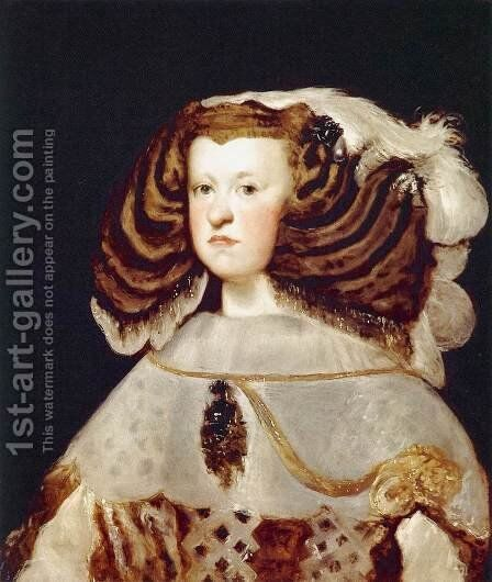 Portrait of Mariana of Austria, Queen of Spain by Velazquez - Reproduction Oil Painting