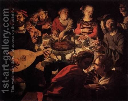The Marriage at Cana by Jan Cornelisz Vermeyen - Reproduction Oil Painting