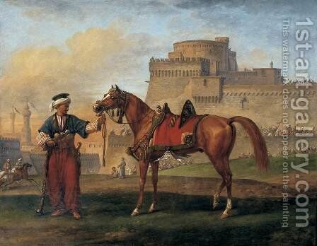 A Mameluk Leading His Horse by Carle Vernet - Reproduction Oil Painting