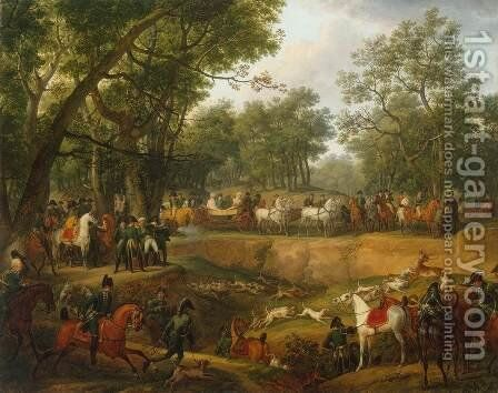 Napoleon on a Hunt in the Forest of Compiegne by Carle Vernet - Reproduction Oil Painting