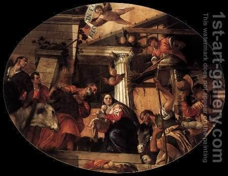Adoration of the Shepherds 4 by Paolo Veronese (Caliari) - Reproduction Oil Painting