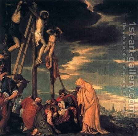 Crucifixion by Paolo Veronese (Caliari) - Reproduction Oil Painting