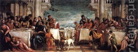 Feast at the House of Simon by Paolo Veronese (Caliari) - Reproduction Oil Painting