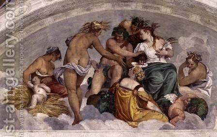Bacchus and Ceres by Paolo Veronese (Caliari) - Reproduction Oil Painting