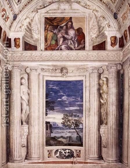 End wall of the Stanza del Cane by Paolo Veronese (Caliari) - Reproduction Oil Painting