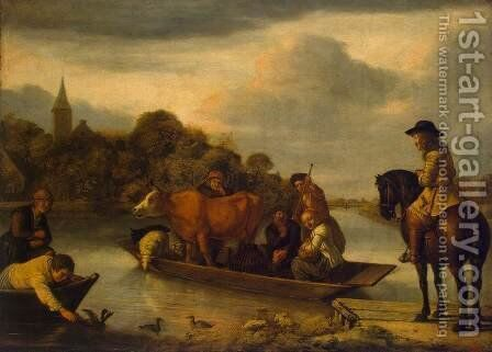 Ferry-boat by Jan Victors - Reproduction Oil Painting