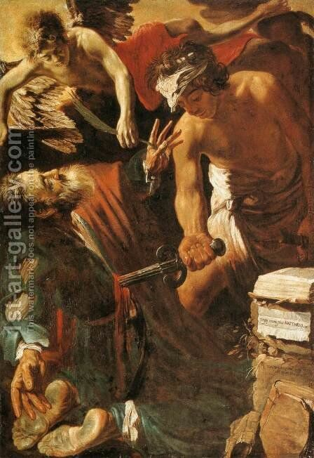 The Martyrdom of St Matthew by Claude Vignon - Reproduction Oil Painting