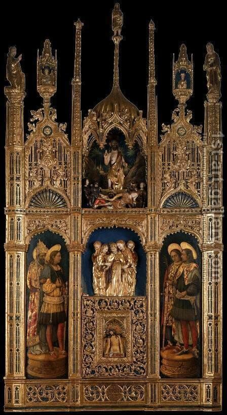 Polyptych of the Body of Christ by Antonio Vivarini - Reproduction Oil Painting