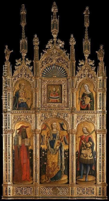 Santa Sabina Polyptych by Antonio Vivarini - Reproduction Oil Painting