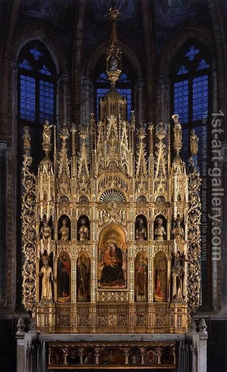 Polyptych of the Virgin by Antonio Vivarini - Reproduction Oil Painting