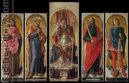 St Ambrose Polyptych by Bartolomeo Vivarini - Reproduction Oil Painting