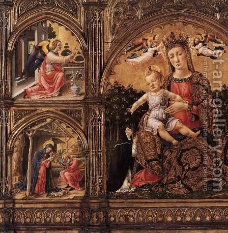 Triptych (detail) by Bartolomeo Vivarini - Reproduction Oil Painting