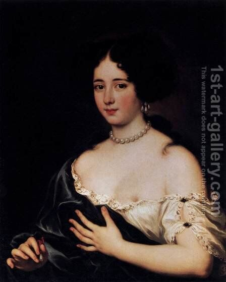 Maria Mancini as Cleopatra by Jacob Ferdinand Voet - Reproduction Oil Painting