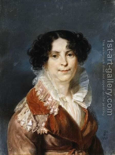 Portrait of a Lady by Carl Christian Vogel von Vogelstein - Reproduction Oil Painting