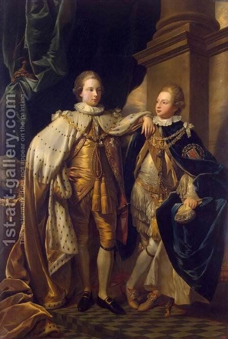 Portrait of George, Prince of Wales, and Prince Frederick, later Duke of York by Benjamin West - Reproduction Oil Painting