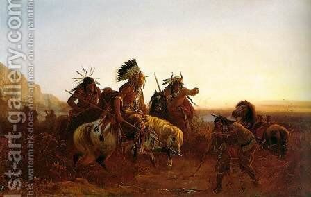 The Lost Trail 2 by Carl (Charles Ferdinand) Wimar - Reproduction Oil Painting