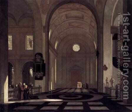 Interior of a Baroque Church by Emanuel de Witte - Reproduction Oil Painting