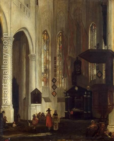 Old Church in Delft by Emanuel de Witte - Reproduction Oil Painting