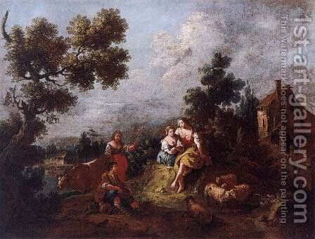 Landscape by Giuseppe Zais - Reproduction Oil Painting