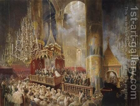 Coronation of Alexander II by Mihaly von Zichy - Reproduction Oil Painting