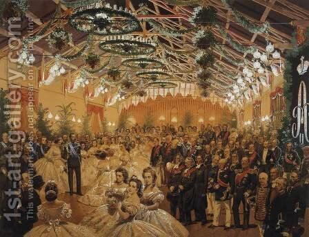 Ball in Honour of Alexander II by Mihaly von Zichy - Reproduction Oil Painting