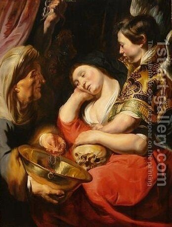 The Temptation of Magdalene by Jacob Jordaens - Reproduction Oil Painting