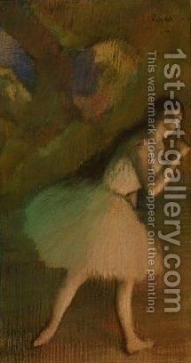 Ballet Dancer on Stage by Edgar Degas - Reproduction Oil Painting