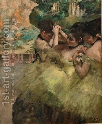 Yellow Dancers by Edgar Degas - Reproduction Oil Painting