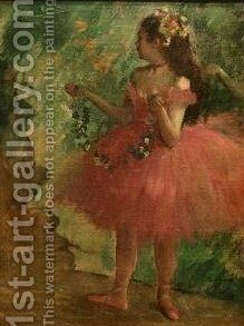 Dancer in Pink by Edgar Degas - Reproduction Oil Painting