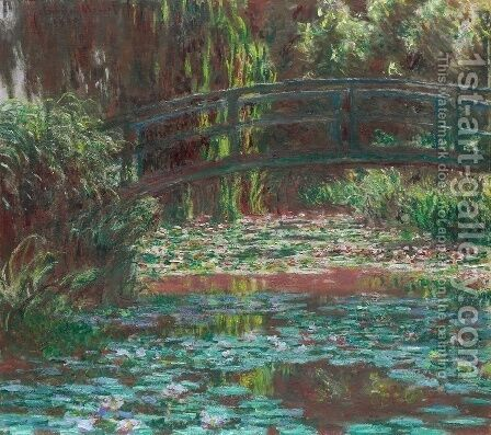 Water Lily Pool by Claude Oscar Monet - Reproduction Oil Painting