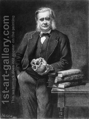 Thomas Henry Huxley etched by Leopold Flameng by (after) Collier, John - Reproduction Oil Painting