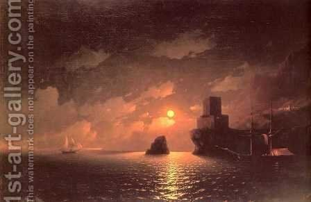 A Lunar night by Ivan Konstantinovich Aivazovsky - Reproduction Oil Painting