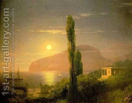 A Lunar night in the Crimea by Ivan Konstantinovich Aivazovsky - Reproduction Oil Painting
