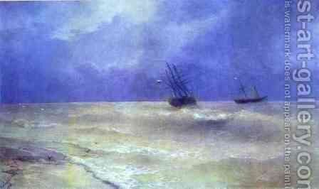 Breakers on the Crimean Coast by Ivan Konstantinovich Aivazovsky - Reproduction Oil Painting