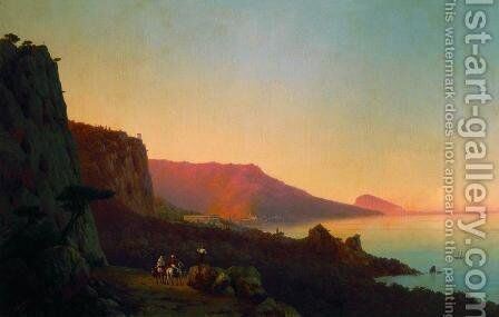 Evening in the Crimea Yalta by Ivan Konstantinovich Aivazovsky - Reproduction Oil Painting