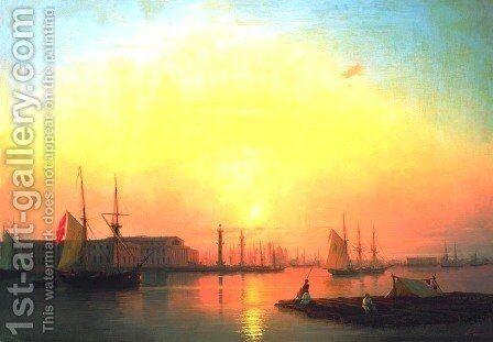 Exchange of Peterburg by Ivan Konstantinovich Aivazovsky - Reproduction Oil Painting
