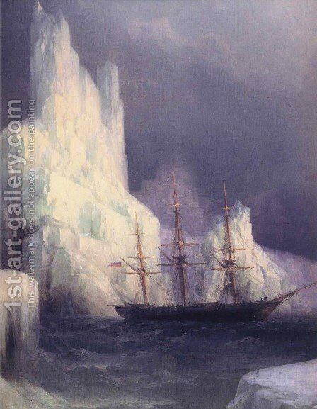Icebergs in the Atlantic by Ivan Konstantinovich Aivazovsky - Reproduction Oil Painting