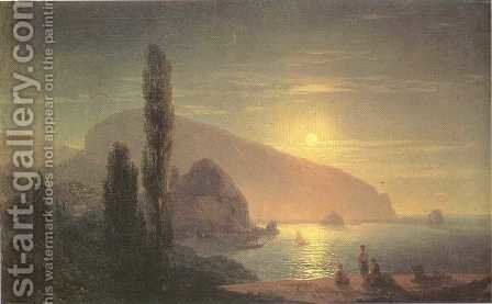 ight at Crimea View on Aiudag by Ivan Konstantinovich Aivazovsky - Reproduction Oil Painting